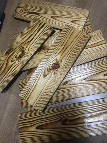 樟子松拉丝碳化木板