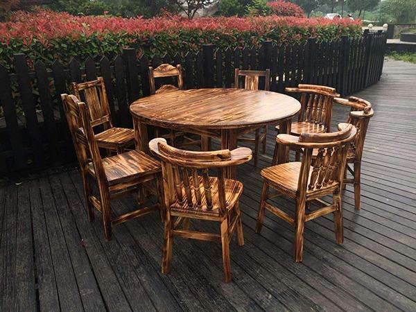 劲爆体育nba直播视频碳化木户外桌椅