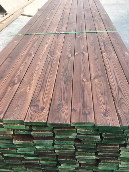 樟子松碳化木板