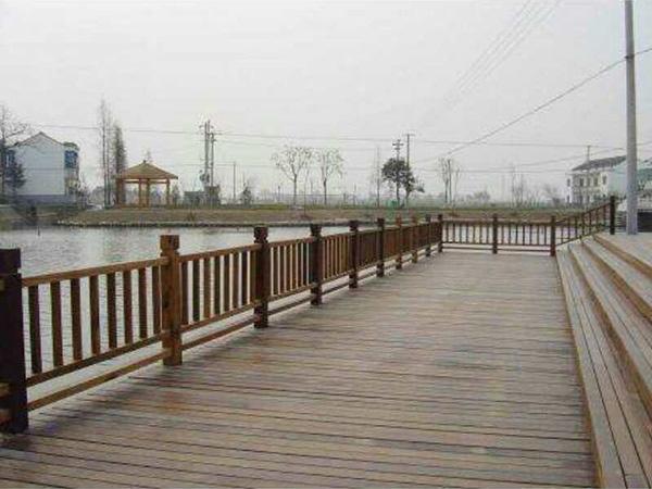 劲爆体育nba直播视频碳化木景观栈道围栏